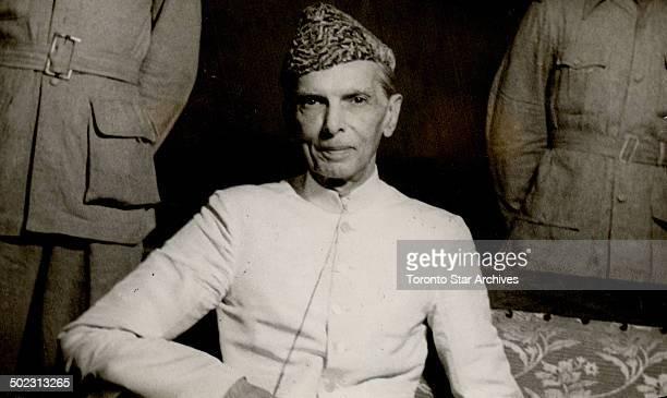 Mr M A Jinnah President of the All India Muslim League