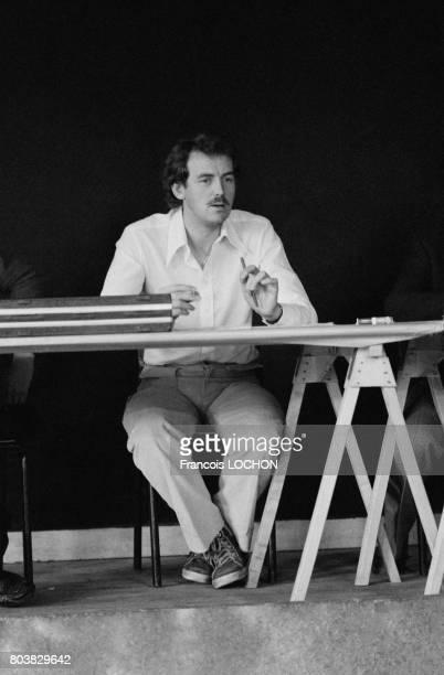 Mr Marion président de l'association des parents victimes du talc Morhange le 22 octobre 1979 à CharlevilleMézières France