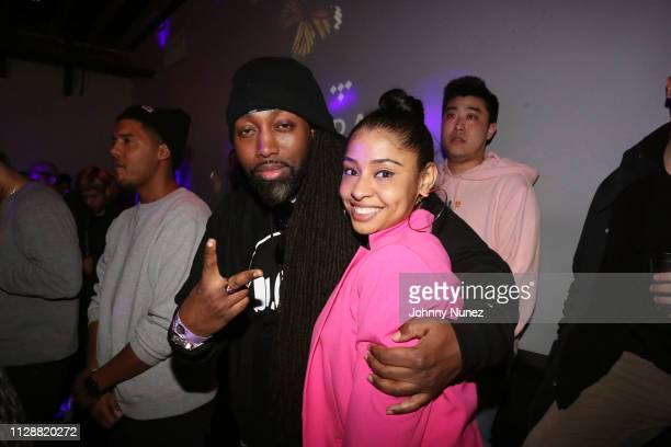 Mr Mecca and Chanel Rae Pettaway attend the Tidal X Lil Skies Shelby Album Release Show on March 5 2019 in New York City