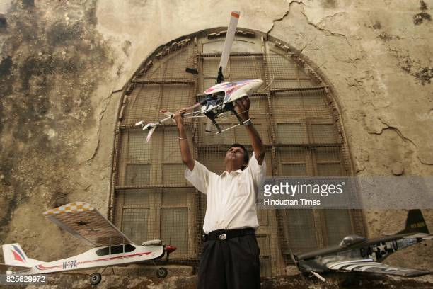 Mr Mishra with his model aeroplanes at India Hobby House in lamington Road on Friday