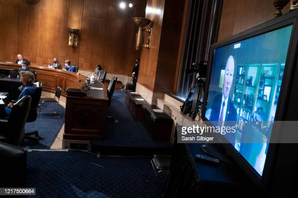 Mr. Mitchell Daniels, President, Purdue University, virtually testifies before the Senate Health, Education, Labor, and Pensions during a hearing on...