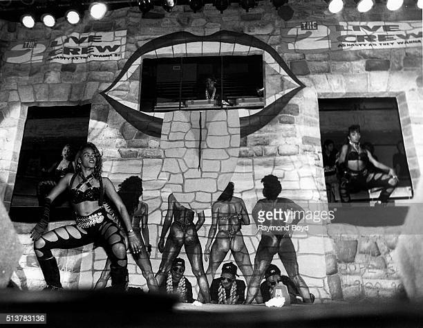 Mr. Mixx and the 2 Live Crew dancers performs at the International Amphitheatre in Chicago, Illinois in October 1989.