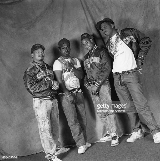 Mr Mixx Fresh Kid Ice Brother Marquis Luke Skyywalker of the rap group 2 Live Crew pose for a portrait session on January 30 1989