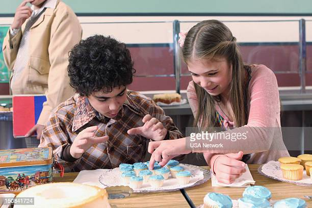 MONK Mr Monk and Little Monk Episode 8 Pictured Grant Rosenmeyer as young Adrian Monk Katelyn Pippy as young Sherry