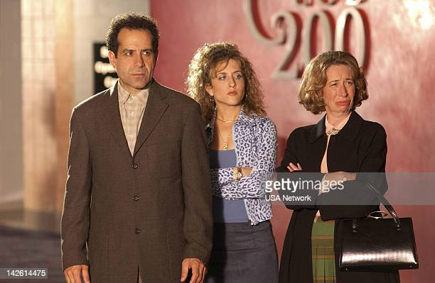 MONK Mr Monk and the Airplane Episode 13 Pictured Tony Shalhoub as Adrian Monk Bitty Schram as Sharona Fleming Robin Duke as Aunt Minn
