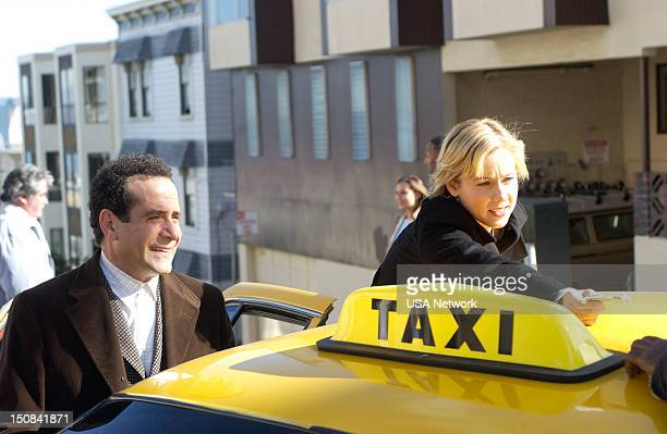 MONK 'Mr Monk and the Big Reward' Episode 13 Pictured Tony Shalhoub as Adrian Monk Traylor Howard as Natalie Teeger