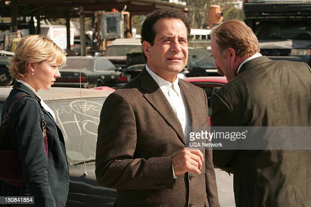 MONK Mr Monk And The Captain's Marriage Episode 12 Pictured Traylor Howard as Natalie Teeger Tony Shalhoub as Adrian Monk Ted Levine as Leland...