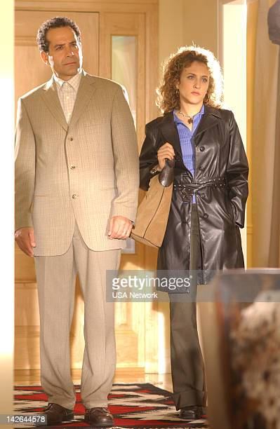 MONK Mr Monk and the Other Woman Episode 8 Pictured Tony Shalhoub as Adrian Monk Bitty Schram as Sharona Fleming