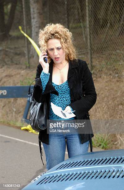 """Mr. Monk and the Three Pies"""" Episode 11 -- Pictured: Bitty Schram as Sharona Fleming --"""