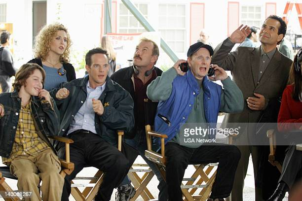 MONK Mr Monk and the TV Star Episode 12 Pictured Bitty Schram as Sharona Fleming Jason GrayStanford as Lt Randall Disher Ted Levine as Captain Leland...