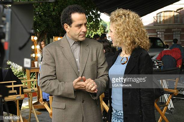 MONK Mr Monk and the TV Star Episode 12 Pictured Tony Shalhoub as Adrian Monk Bitty Schram as Sharona Fleming