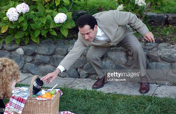 MONK Mr Monk Gets Married Episode 15 Pictured Bitty Schram as Sharona Fleming Tony Shalhoub as Adrian Monk