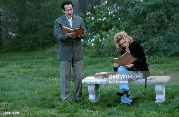 """Mr. Monk Gets Married"""" Episode 15-- Pictured: Tony Shalhoub as Adrian Monk, Bitty Schram as Sharona Fleming --"""