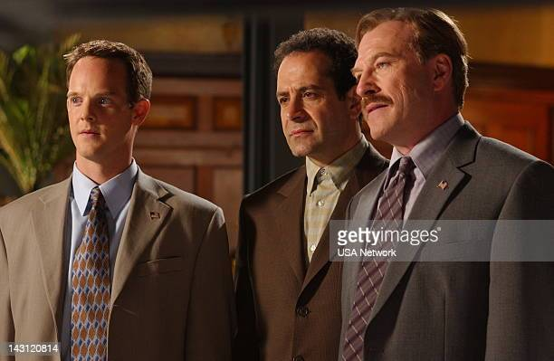MONK Mr Monk Meets Dale the Whale Episode 4 Pictured Jason GrayStanford as Lt Randall Disher Tony Shaloub as Adrian Monk Ted Levine as Captain Leland...
