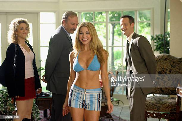 MONK Mr Monk Meets the Playboy Episode 8 Pictured Bitty Schram as Sharona Fleming Ted Levine as Captain Leland Stottlemeyer Jennifer Lyons as Bethany...