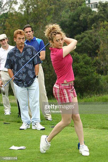 """Mr. Monk Meets the Playboy"""" Episode 8-- Pictured: Danny Bonaduce, Bitty Schram as Sharona Fleming --"""