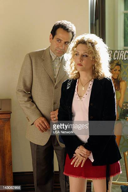 MONK Mr Monk Meets the Playboy Episode 8 Pictured Tony Shalhoub as Adrian Monk Bitty Schram as Sharona Fleming