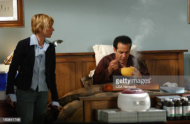 """Mr. Monk Stays in Bed"""" Episode 3 -- Pictured: Traylor Howard as Natalie Teeger, Tony Shalhoub as Adrian Monk --"""