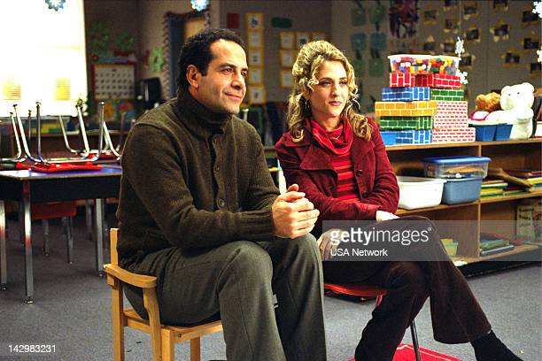 MONK Mr Monk Takes a Vacation Episode 10 Pictured Tony Shaloub as Adrian Monk Bitty Schram as Sharona Fleming