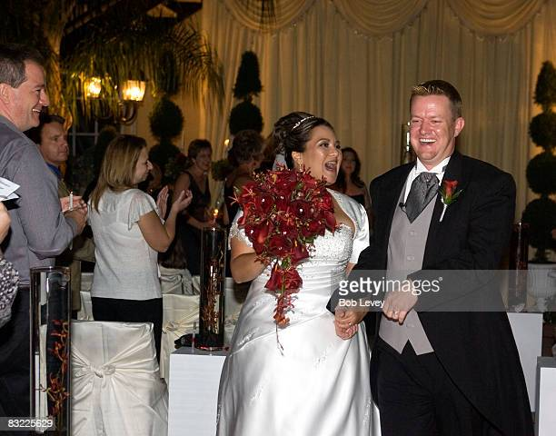 Mr Mrs Nathan Rhodes after exchanging vows on October 10 2008 in Houston Texas The Survivor Foundation a notforprofit organization founded by Beyonce...