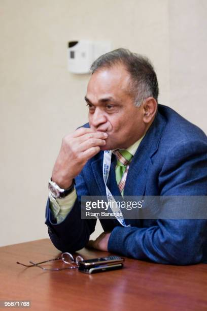 Mr Niranjan Shah ViceChairman of the Indian Premier League attends the IPL Auction 2010 on January 19 2010 in Mumbai India