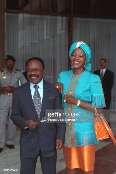 Mr Omar Bongo with his wife Edith Lucie