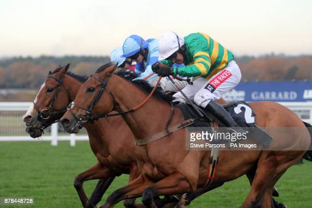 Mr One More ridden by Barry Geraghty go on to win the David Brownlow Charitable Foundation 'Introductory' Hurdle at Ascot Racourse