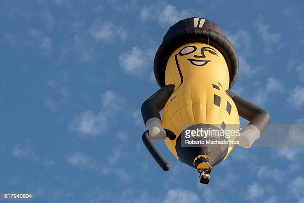 Mr Peanut advertisement balloon over Toronto city Mr Peanut is the advertising logo and mascot of Planters an American snackfood company and division...