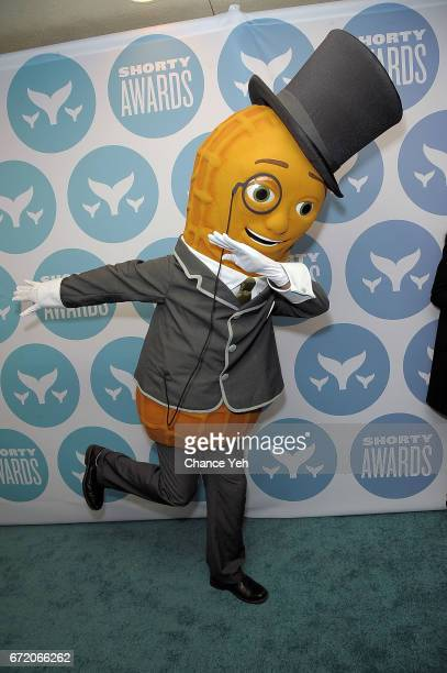 Mr Peanut attends 9th Annual Shorty Awards at PlayStation Theater on April 23 2017 in New York City