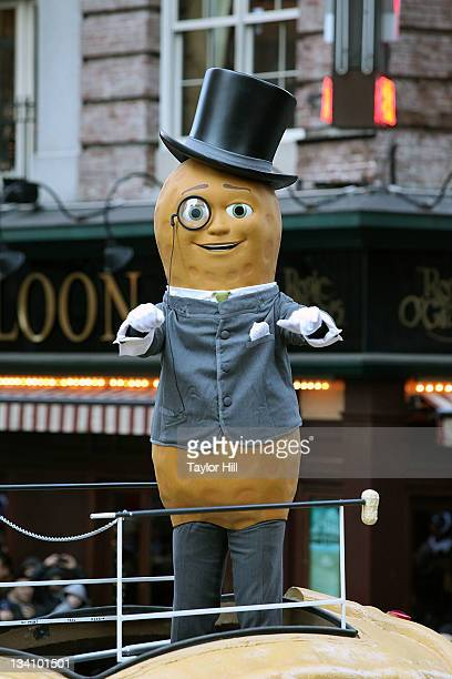 Mr Peanut attends the 85th annual Macy's Thanksgiving Day Parade on November 24 2011 in New York City