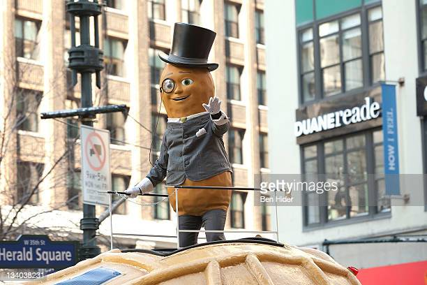 Mr Peanut attends the Macy's Legendary Thanksgiving Day Parade on November 24 2011 in New York City