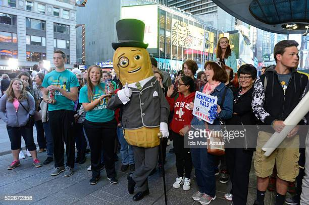 AMERICA Mr Peanut celebrates his 100th birthday on GOOD MORNING AMERICA 4/20/16 airing on the Walt Disney Television via Getty Images Television...