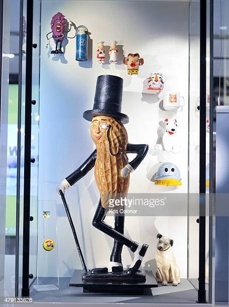 Mr Peanut is on display during the grand opening of National Museum Of American History's Innovation Wing at the National Museum Of American History...