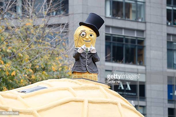 Mr Peanut rides in the Macy's Thanksgiving Day Parade on November 24 2016 in New York City