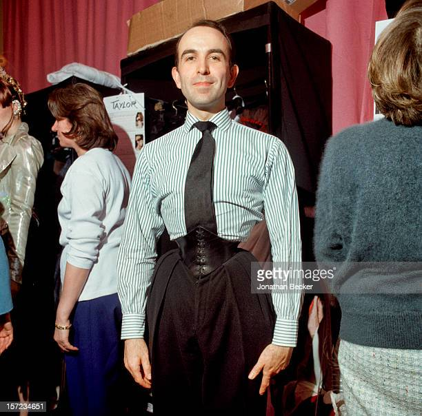 Mr Pearl corsetier to Christian Lacroix is photographed for Vanity Fair Magazine on January 18 1998 at Le Grand Hotel in Paris France PUBLISHED IN...