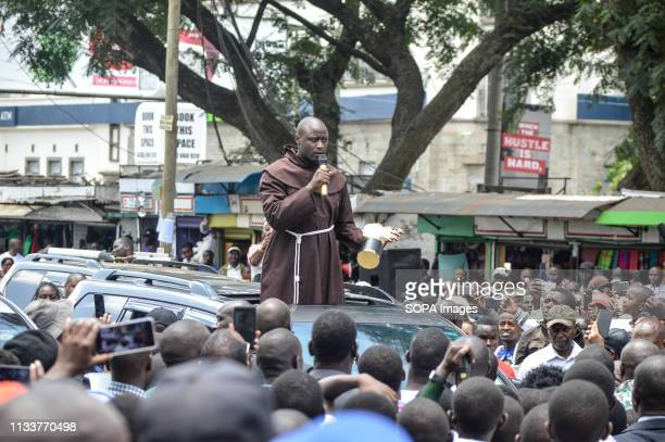 Mr Peter Tabichi who was named world best teacher is seen giving a speech when he arrived in Nakuru his home town where he was received by many Mr...