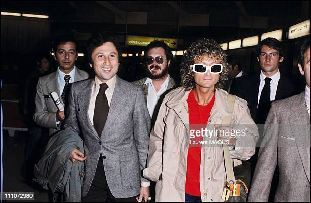 Mr Polnareff comes back to France after 5 years in exile in New York Michel Drucker receives Michel Polnareff in Roissy En France France on October...