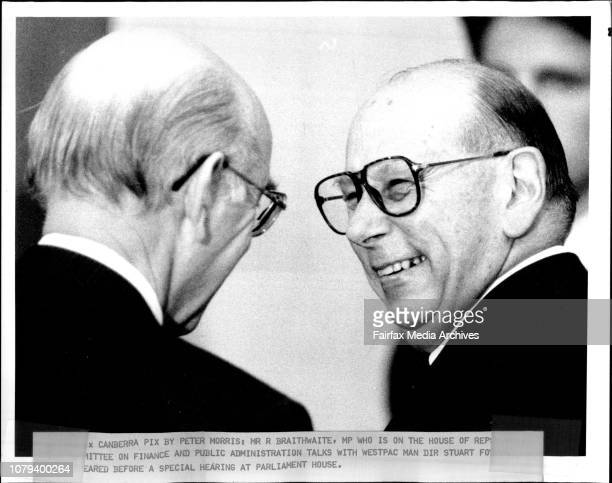 Mr R Braithwaite MP who is on The House of before a special hearing at Parliament House January 01 1991