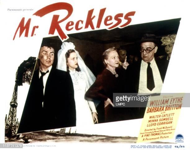 Mr Reckless lobbycardMr Reckless William Eythe Barbara Britton Minna Gombell Walter Catlett 1948