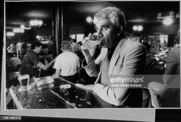 Mr Robert Morgan Pres of the NSW Aboriginal Education Group Consultative and a member of the AntiDiscrimination Board enjoys a lemon squash in a City...