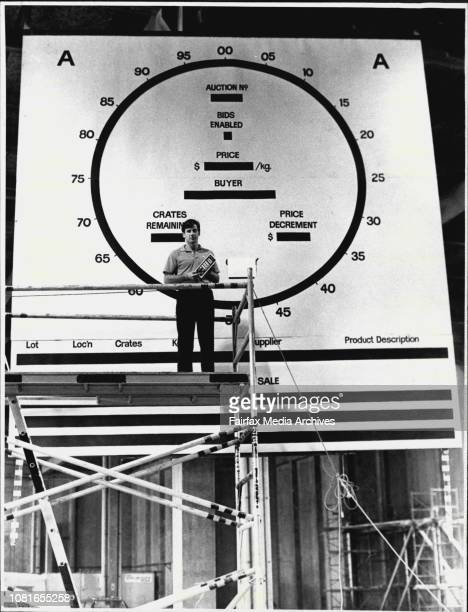 Mr Robert Steel DP Manger of Sydney fishmarkets photographed in a new hall with clock which will be used for new technology fish auctions March 25...