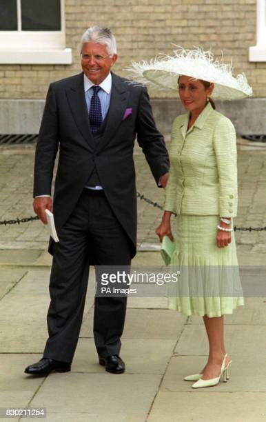 Mr Robert Warren Miller and his wife Chantal arriving at Kenwood House for the reception following the wedding of Princess Alexia of Greece to Carlos...