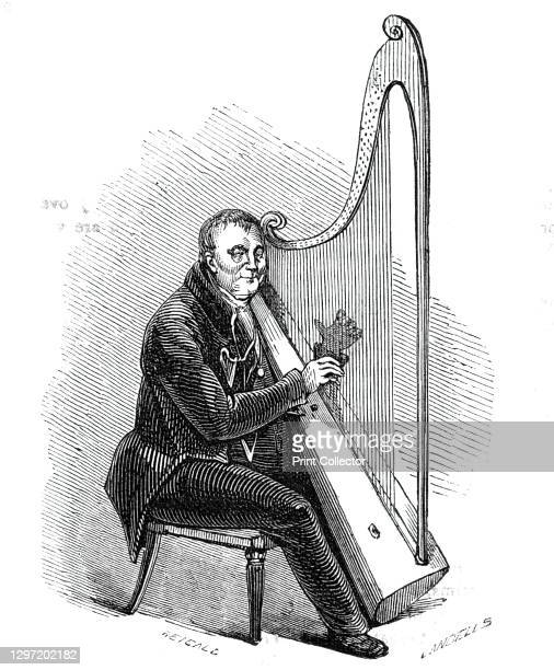 Mr. Roberts, the Welsh Harper, 1844. Harpist with visual impairment: '...who awakens all our best recollections of the bards of old by his admirable...