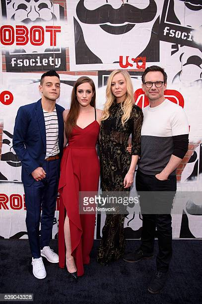MR ROBOT Mr Robot Official Emmy Event The Metrograph New York Pictured Rami Malek Carly Chaiken Portia Doubleday Christian Slater
