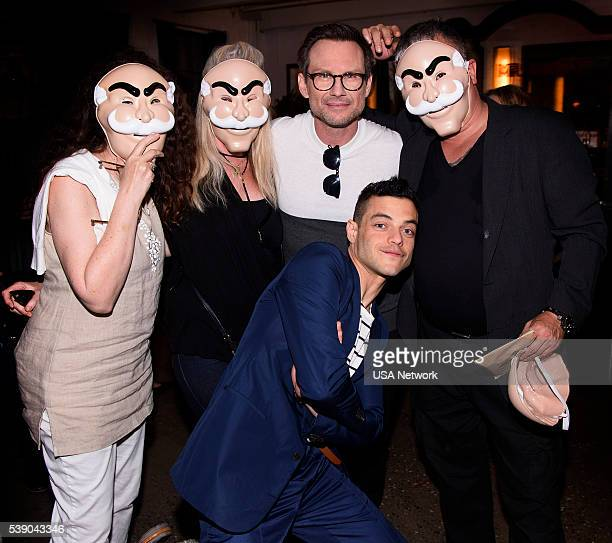 MR ROBOT Mr Robot Official Emmy Event The Metrograph New York Pictured Christian Slater Rami Malek