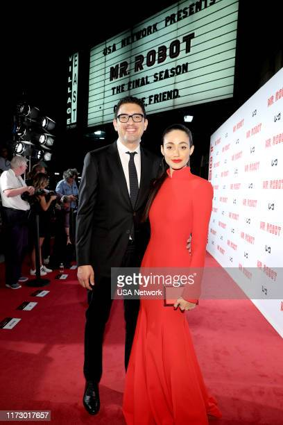 MR ROBOT Mr Robot Season 4 Premiere Pictured Sam Esmail Creator and Executive Producer Mr Robot Emmy Rossum