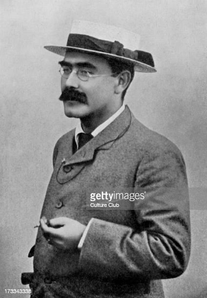 Mr. Rudyard Kipling, portrait. English poet and novelist. B. 30 December 1865 - D. January 1936.