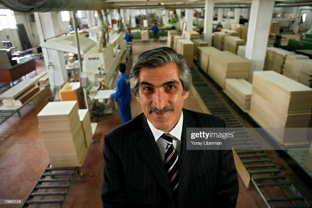 Mr. Saffet Arslan, the owner of IPEK furniture manufacture, poses in his factory on April 10, 2006 in Turkey.