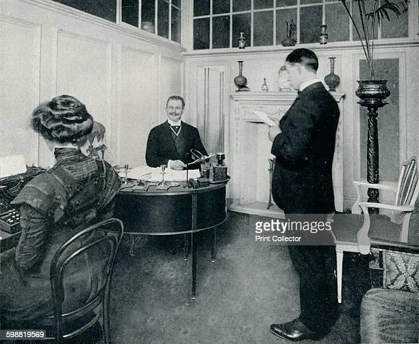 Mr Sandow Attending To His Days Correspondence circa 1898 Eugen Sandow was a German pioneering bodybuilder known as the father of modern bodybuilding...