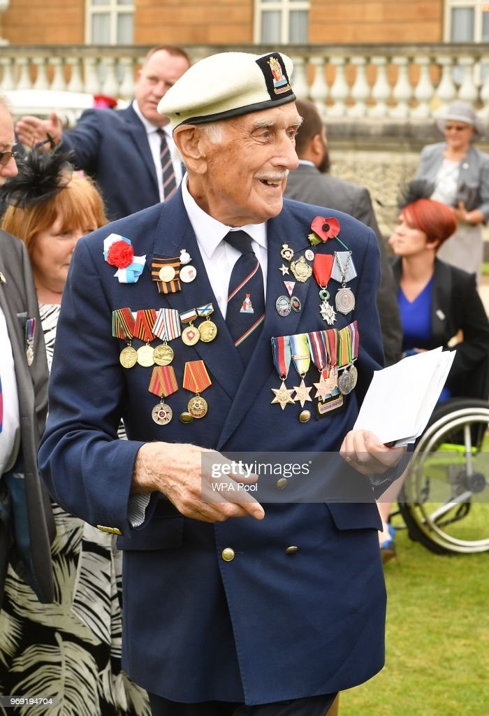 Mr Seymour Taylor attends the Not Forgotten Association Annual Garden Party at Buckingham Palace on June 7, 2018 in London, England. The Not Forgotten Association is a national tri-service charity which provides entertainment, leisure and recreation for the serving wounded, injured or sick and for ex-service men and women with disabilities. Photo by John Stillwell - WPA Pool/Getty Images)